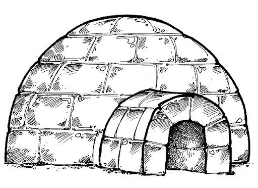 Imagen de iglu para colorear  Imagui