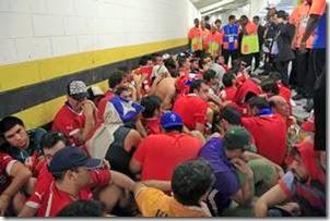 Torcedores chilenos presos