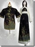contoh baju batik model dress terbaru