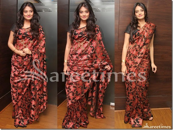 Nikitha_Narayan_Embellished_Saree