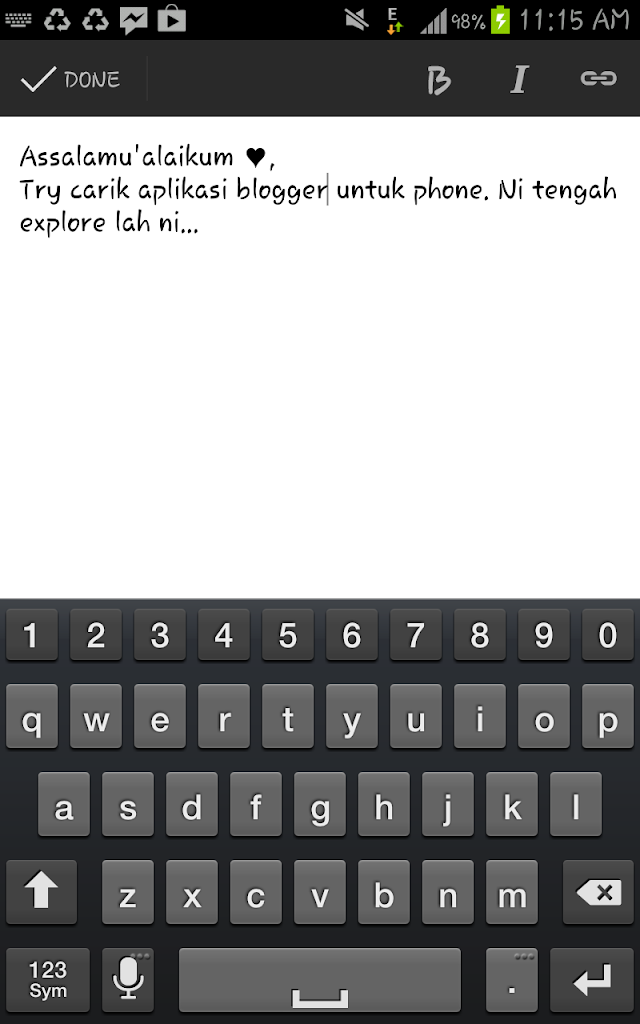 Testing Guna Blogger Application Untuk Android Phone