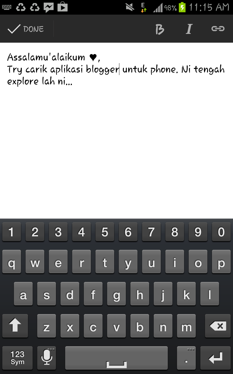 Testing Guna Blogger Application Untuk Android Phone