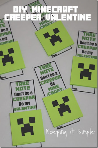 graphic regarding Minecraft Printable Valentines identified as Tremendous Very simple Do-it-yourself Minecraft Creeper No Sweet Valentine with