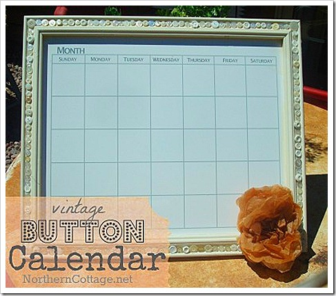 vintage button calendar northern cottage