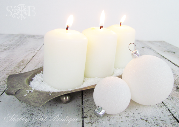 Shabby Art Boutique Christmas candles