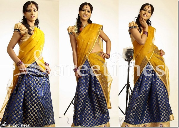 Yellow_Blue_Half_Saree