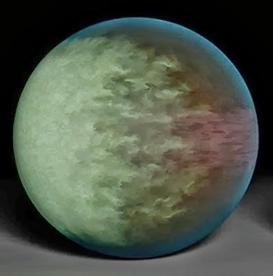 ilustração do exoplaneta Kepler-7b