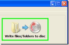 ImgBurn metodo di masterizzazione selezionare Write files/folders to disc