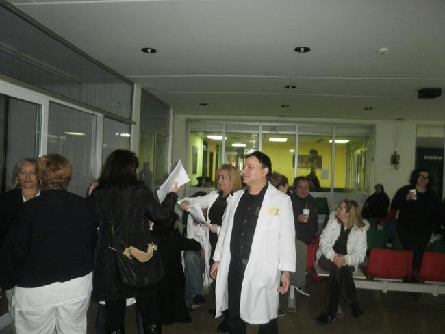 Κατάληψη στο γραφείο κινήσεως ασθενών από την αγωνιστική επιτροπή του Γ.Ν. Κεφαλονιάς.