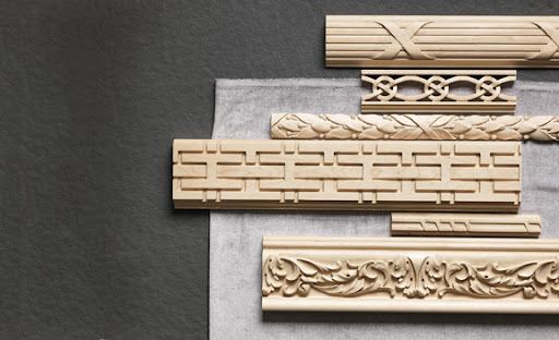 Classic, ornate, and modern molding samples celebrate the range of French styles that have been used to line ceilings and floors for centuries.