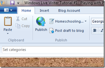 livewriter home toolbar
