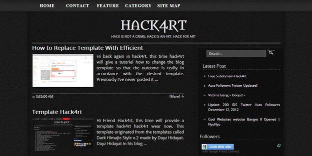 hack4rt-blogger-template