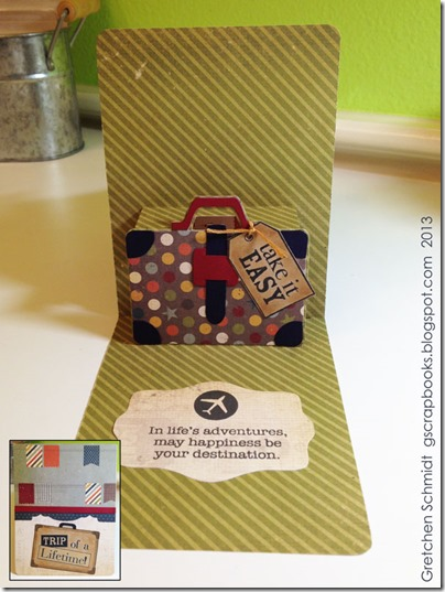 Trip of a Lifetime Card with Suitcase Pop `n Cuts by @gscrapbooks