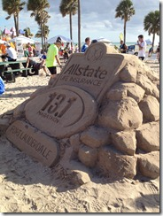 half marathon sand sculpture