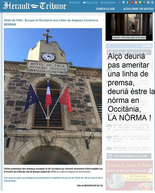 La nòrma dins Occitània devath lo regime francés