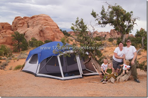 Camping at Arches National Park
