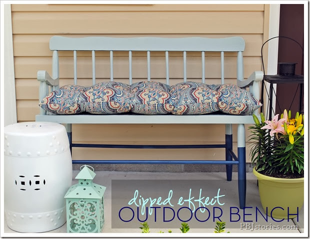 PBJstories Dipped Outdoor Bench