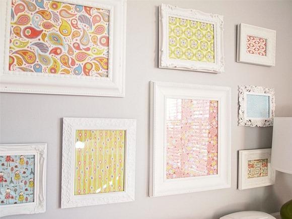 Framed-Scrapbook-Paper-on-white-walls