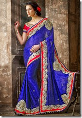 Royal blue Saree - Kopanaa