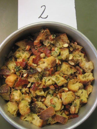 Chorizo-Almond Stuffing (with toasted white bread)