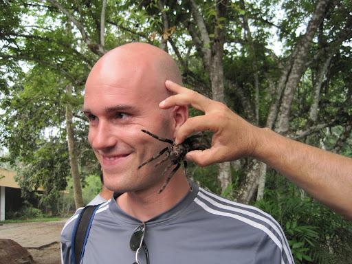 Erik likes tarantulas!