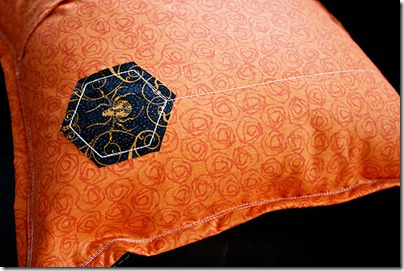 3 back of string spiderweb pillow
