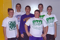 "Shelbi Sieren, Eric Hammes, Kyle Bermal, Tim Messenger, Stacie Sieren, and Brandi Sieren, all from the Keota area, were teamed up in 2003 for a 4-H Volleyball event at Mid-Prairie.  Tim Messenger was a member of the 76 Progressives and Riverside Ramblers during his nine years in 4-H from 2000-2009.  He said, ""My favorite 4-H memory was in my third year. I bought two cattle and showed them at the fair. I won Reserve Champion Simmental Steer and the other steer was Reserve Champion Lightweight market steer.""  Messenger now is a student at ISU.  Photo Courtesy:  Washington County Extension."