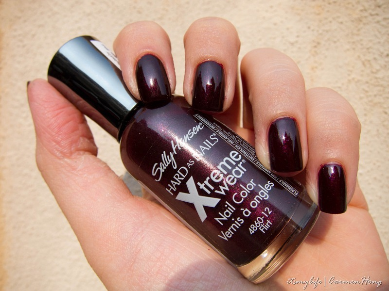 sally hansen flirt swatch hard as nails