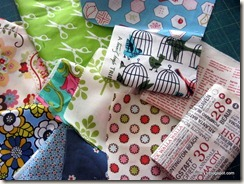 gorgeous fabric scraps