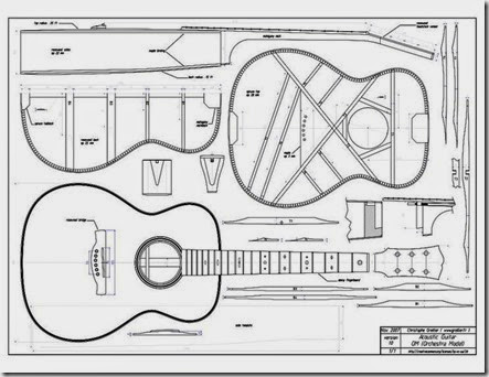 Acoustic guitar template images for Guitar cut out template