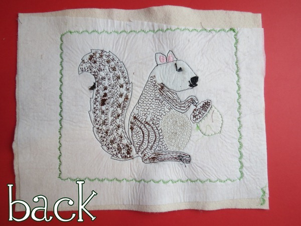 Back of squirrel applique