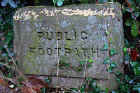 Public Footpath. Fairly self explainatory, really.