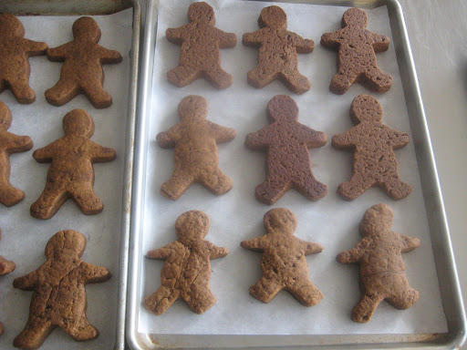 Khalil's gingerbread men turned out so cute! These were amazing with coffee the next morning.