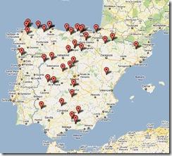 mapa festivales folk península