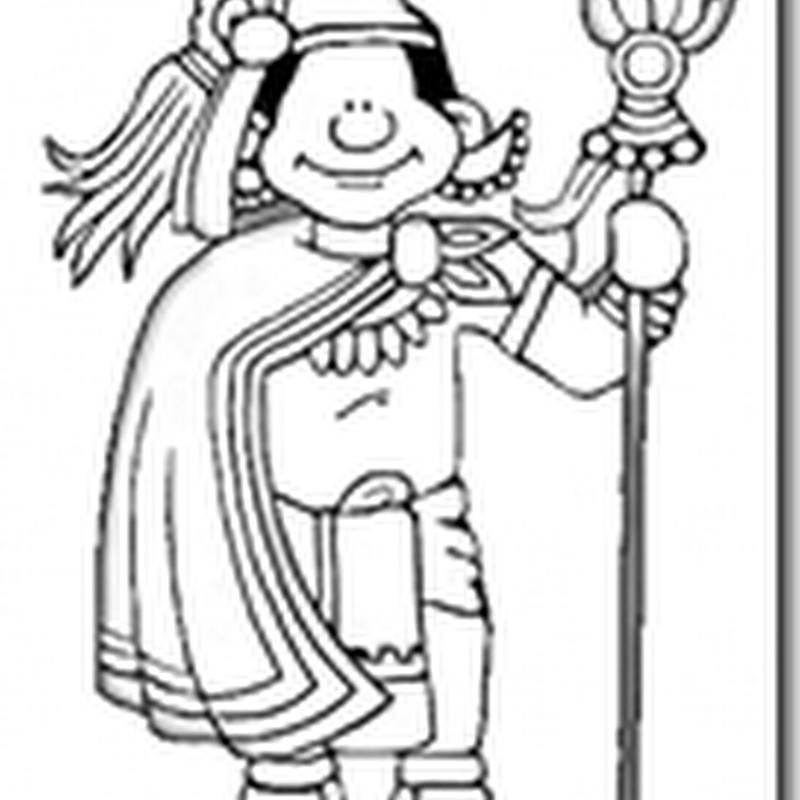 colorear dibujos de Aztecas
