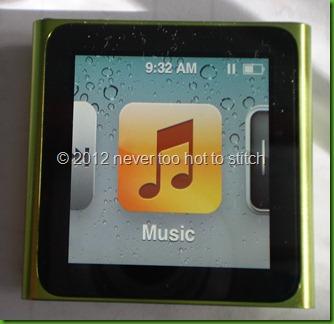 2012 iPod Nano green