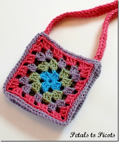 Crochet Granny Square Purse Pattern : Granny Square Purse Crochet Pattern www.petalstopicots.com # ...