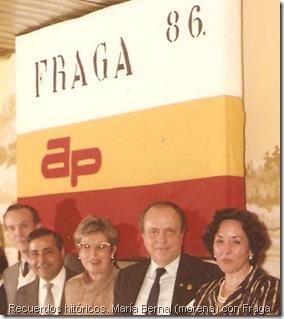 Recuerdos hitóricos. María Bernal (morena) con Fraga