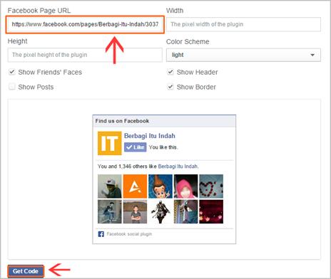 Cara Membuat Fans Page Facebook di Blog 04