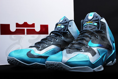 nike lebron 11 gr gamma blue 3 06 Detailed Look at the Gamma Blue Nike LeBron XI (616175 401)