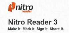 โปรแกรม Nitro  pdf Reader