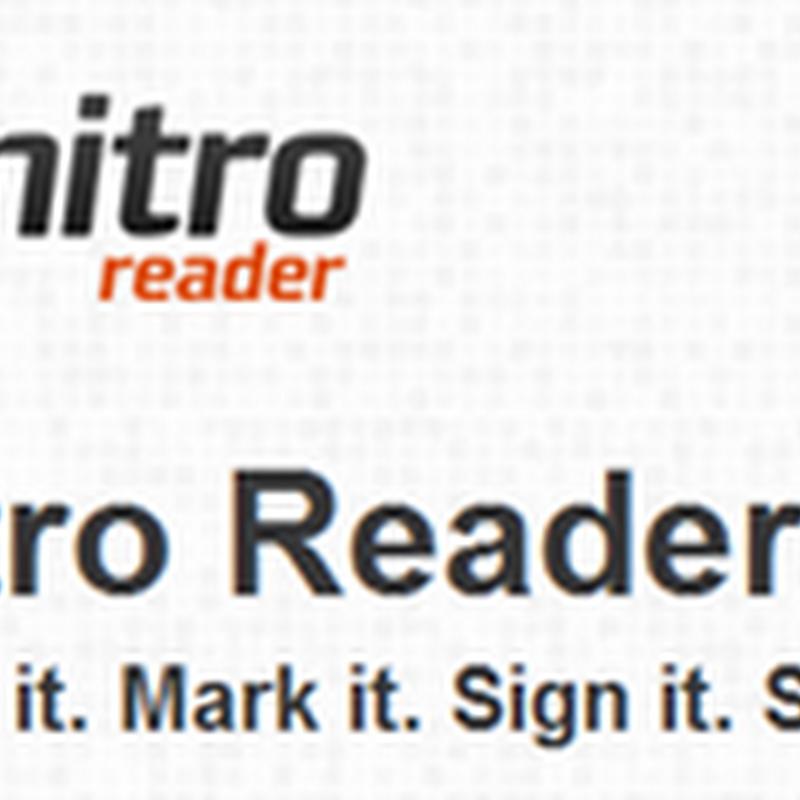 โปรแกรม Nitro pdf Readerสำหรับแยกภาพเป็น JPG ออกจาก PDF