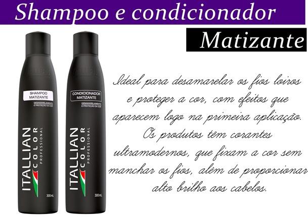 shampoo e condicionador matizante itallian color