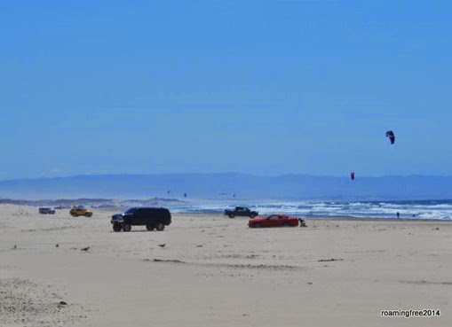 Driving on Pismo Beach