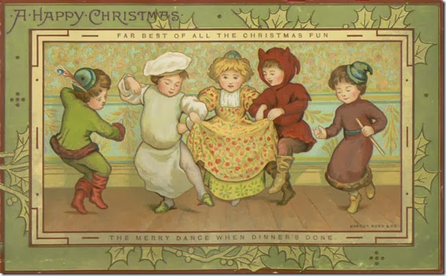 A Happy Christmas. Victorian greetings card (1881)