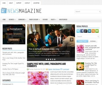 NewsMagazine-Blogger-Template