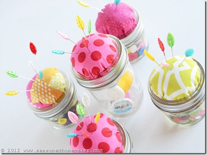Mason Jar Pin Cushion 16
