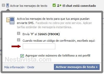 Registrando tu celular en Facebook