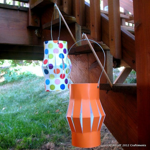 1-Paper lanterns on stick