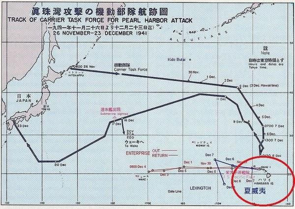 日軍偷襲路線,成功避開美軍偵測雷達